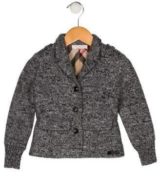 Burberry Girls' Notch-Lapel Wool Blazer grey Girls' Notch-Lapel Wool Blazer