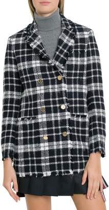 Thom Browne Tartan Tweed Sack Jacket