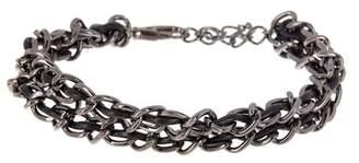 Kenneth Cole Gunmetal Chain & Cord Bracelet