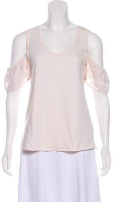 See by Chloe Cutout-Accented Embroidered Top