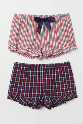 H&M 2-pack Pajama Shorts - Red