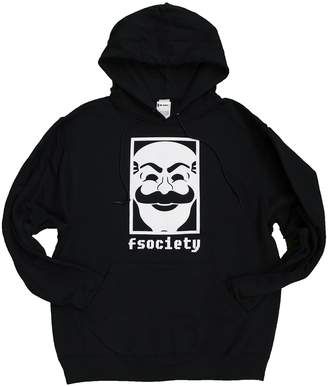 Fifth Sun Mens Mr. Robot fSociety Hoodie Hooded Pullover Sweatshirt