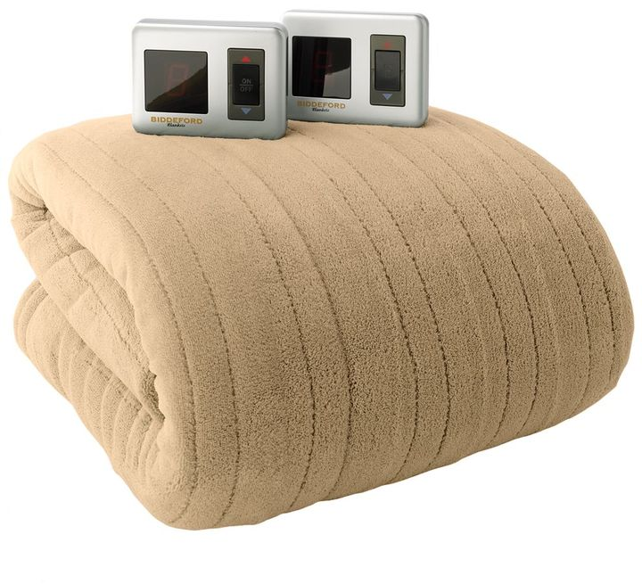 Biddeford plush heated electric blanket - queen