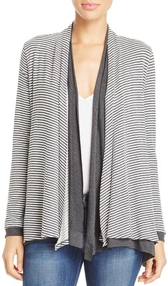 Three Dots Reversible Stripe Cardigan $158 thestylecure.com