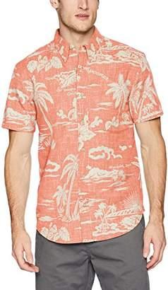 Reyn Spooner Men's My Private Isle Weekend Wash Tailored Fit Hawaiian Shirt