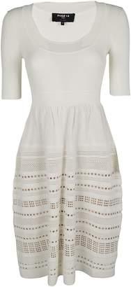 Paule Ka Perforated Detail Dress