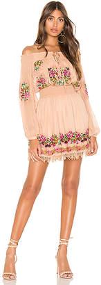 Tularosa Calista Embroidered Dress