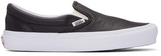 Vans Black OG Classic Slip-On Sneakers $80 thestylecure.com