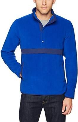 Starter Men's Polar Fleece Snap-Collar Pullover Jacket