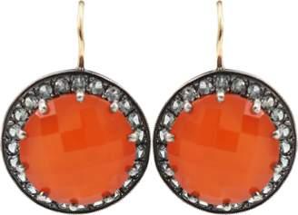 Andrea Fohrman Carnelian And Gray Sapphire Button Earrings