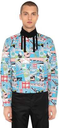 Prada James Jean Print Cotton Poplin Jacket