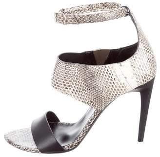 Proenza Schouler Multistrap Snakeskin Sandals w/ Tags
