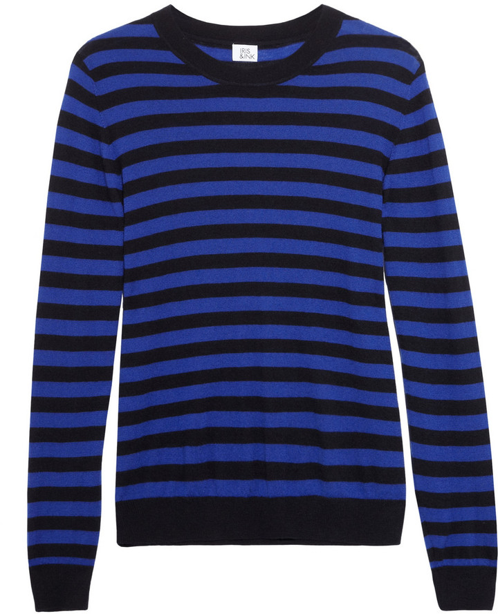 Iris & Ink Striped cashmere sweater