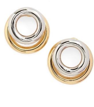Women's Alexander Wang Double Hoop Stud Earrings $295 thestylecure.com
