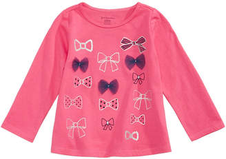 First Impressions Bows-Print T-Shirt, Baby Girls, Created for Macy's