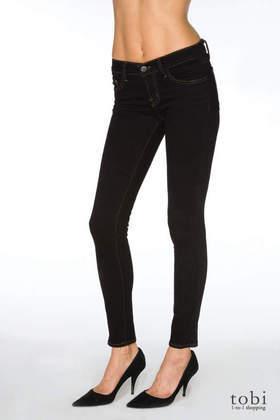 "J Brand 10"" Lowrise Skinny Ankle Jeans - 910 in Black"