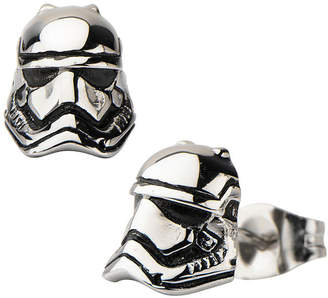 FINE JEWELRY Star Wars Stainless Steel Storm Trooper 3D Stud Earrings