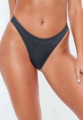Missguided High Leg Bikini Brief Bottoms