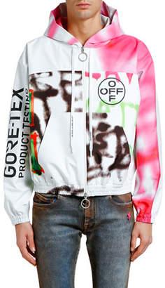 Off-White Men's GORE-TEX® Zip-Front Hoodie