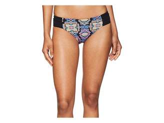 Seafolly Sun Temple Ruched Side Retro Bottom