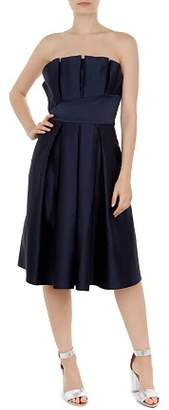 Ted Baker Pippaa Strapless Pleated Dress