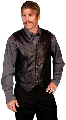 Scully Western Vest Mens Lambskin Leather Snap 4X Soft 507-144