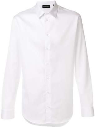 Emporio Armani textured slim-fit shirt