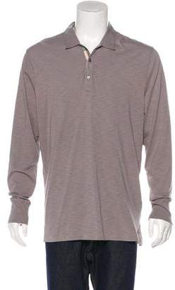 Burberry Long Sleeve Polo Shirt