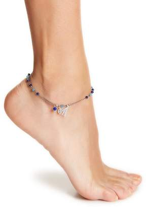 Chan Luu Sterling Silver Beaded Semi-Precious Stone & Tassel Charm Anklet