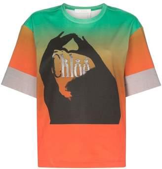 Chloé Graphic print ombre cotton T-shirt