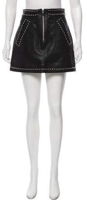Barbara Bui Studded Leather Skirt w/ Tags