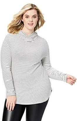 Daily Ritual Women's Plus Size Supersoft Terry Long-Sleeve Hooded Pullover