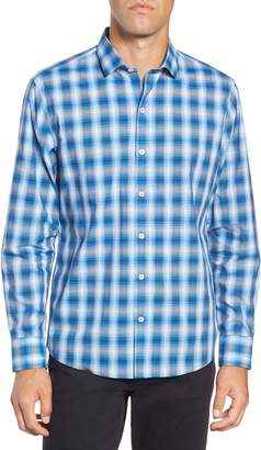 Zachary Prell Holtsinger Regular Fit Plaid Sport Shirt