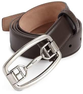 Bally Men's Cornell Leather Bit Dress Belt