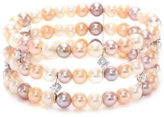 Bella Pearl and Cubic Zirconia Cuff Bracelet