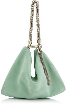 Jimmy Choo CALLIE Mint Suede Clutch Bag