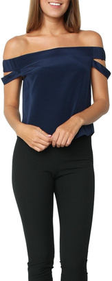 MASON BY MICHELLE MASON OffShoulder Top Ink $348 thestylecure.com