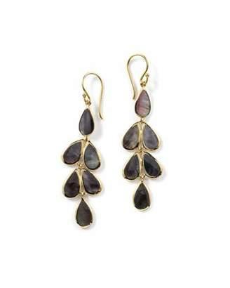 Ippolita 18K Rock Candy Teardrop Cascade Earrings in Black Onyx