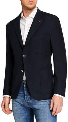 Isaia Men's Two-Button Patch-Pocket Jacket