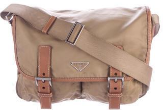 pradaPrada Tessuto Leather-Trimmed Messenger Bag