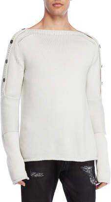 Kolonko Button-Accented Wool Sweater