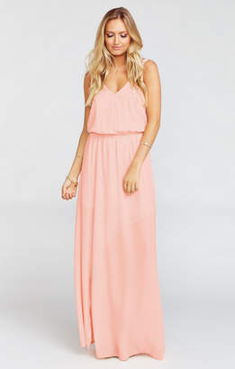 4fbf5ec3a21 Show Me Your Mumu Kendall Maxi Dress ~ Frosty Pink Crisp