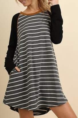 Umgee USA Striped T-Shirt Dress