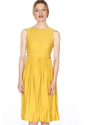 PepaLoves Flared Sleeveless Dress with Side Lacing