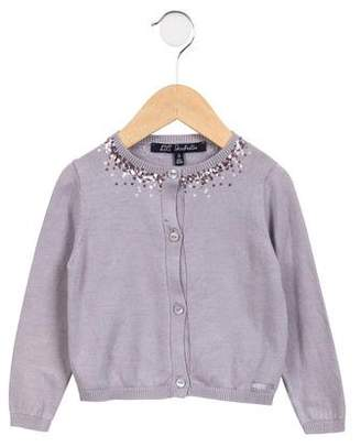 Lili Gaufrette Girls' Sequined Knit Cardigan