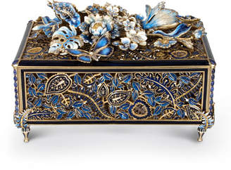 Jay Strongwater Genevieve Grand Floral Chest