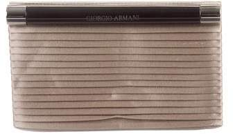 Emporio Armani Pleated Satin Clutch