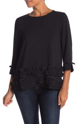 CQ by CQ Tiered Pleat Hem Blouse