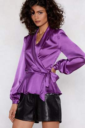 Nasty Gal Sleek Me Out Satin Top