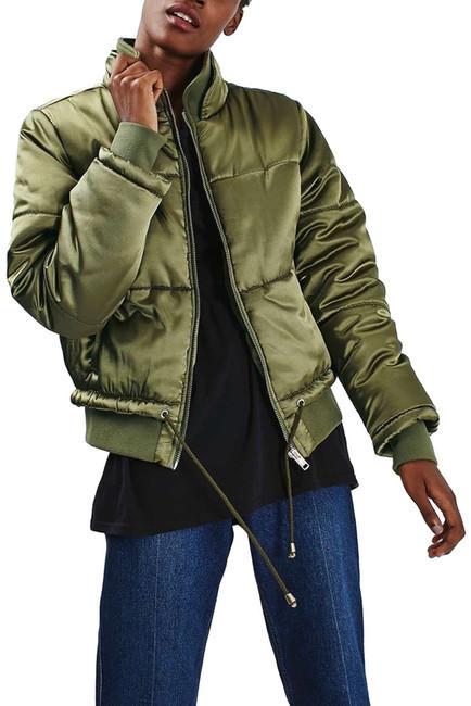 TopshopTOPSHOP Carter Satin Puffer Jacket (Petite)